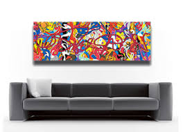 canvas art yellow wall art abstract modern contemporary panoramic  on colorful abstract canvas wall art with modern panoramic multi coloured abstract wall art bubble gum