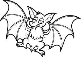 Small Picture Halloween Bat Coloring Pages LineArt HalloweMonsters