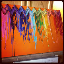 DIY Teen Wall Decor | ... chevron melted crayon art diy playroom decor  pinsandpetals