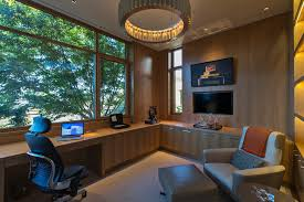wall mounted home office. Lighting Chair Home Office Contemporary With Tv In Built Wall Mounted Moniter Luxury