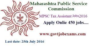 mpsc tax assistant jobs 2016 apply kar sahayak 181 vacancies tax assistant
