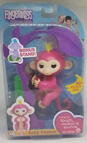 WowWee Fingerlings Fingerling Interactive Baby Monkey Bella Pink ...