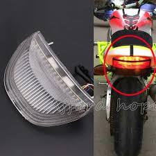 <b>Motorcycle</b> LED <b>Integrated</b> Mount <b>Clear Lens</b> Brake Light Turn ...