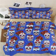 skull bedding duvet cover set twin full queen sugar skull bedding set king size kids