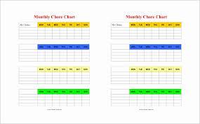 Pdf Chore Chart Template Chore Chart Template Free Download Inspirational Chore Chart