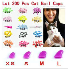 Cat Nail Cap Size Chart 2016 Lots 200pcs 14 Solid Colors Soft Cat Pet Nail Caps Claw Control Paws Off 10pcs Adhesive Glue Size Xs S M L Free Shipping In Cat Grooming From