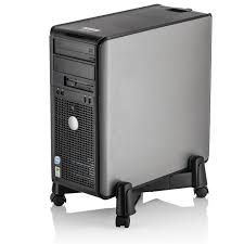 com halter lz 401 pc computer stand case caddy for desktop tower cases with adjule width and 4 caster rolling wheels office s