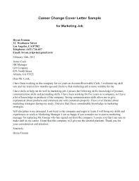 Career Change Cover Letter Examples Administrativelawjudge Info