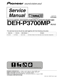 pioneer deh p3700mp service manual free download, schematics Pioneer Deh P3700mp Wiring Harness pioneer deh p3700mp service manual (1st page) pioneer deh-p3700mp wiring harness