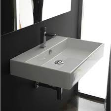 wall hung sink. Contemporary Wall WS Bath Collections Unlimited 60 White Wall Mount Or Countertop Bathroom  Sink To Hung