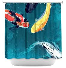 Artistic shower curtains Beige Bathroom Image Etsy Shower Curtain Fine Art Koi Painting Artistic Bathroom Etsy