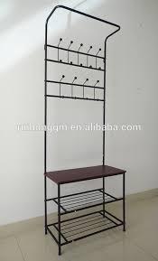 Free Standing Coat Rack With Bench Pinnig Coat Rack With Shoe Storage Bench Black 100 Cm Ikea 74