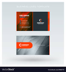 013 Creative And Clean Double Sided Business Card Vector Template