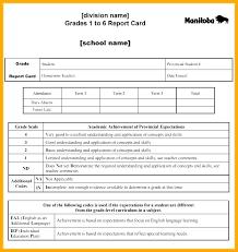 Education Report Template Sample High School Report Card Template