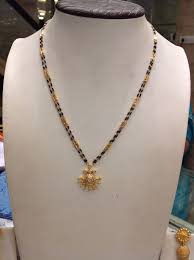 Nallapusalu Locket Designs Blackbeeds 12 Gms Gold Mangalsutra Designs Gold Jewelry
