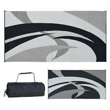details about reversible patio mat rv outdoor camping picnic carpet deck 9 x 18 camper rug