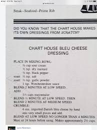 Chart House Recipes Chart House Blue Cheese Dressing Salad In 2019 Salad