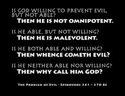 probability and the problem of evil com i recently finished an essay for my philosophy of knowledge class regarding the problem of evil paul draper argues that naturalism is more probable than