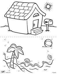 Kleurplaat Huis En Strand Crayolanl