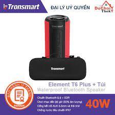 TẶNG TÚI ] Loa bluetooth Tronsmart Element T6 Plus, bluetooth 5.0 ngoài  trời, âm thanh vòm 360 độ, Âm Bass cực hay