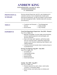 Supervisor Resume Impressive Toys R Us Front End Department Supervisor Resume Sample Glenolden