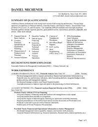 Finance Resume Sample Finance Resume Examples From Finance Resume