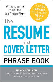 The Resume And Cover Letter Phrase Book Ebook By Nancy Schuman