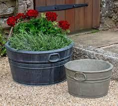 cast stone garden trug planter