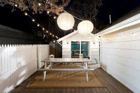 outdoor table lighting ideas. String Lights Coupled With Two Giant Lanterns To Illuminate The Deck [Design: Cousins Outdoor Table Lighting Ideas I