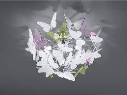 Ausgefallene Deckenleuchte Mit Schmetterlingen Rund Großer Durchmesser Esszimmer Yategocom