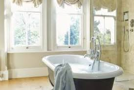 Double-hung windows are one option when remodeling a bathroom.
