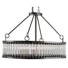 hanging bronze frame rectangular modern crystal chandelier lighting ideas