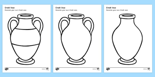 Greek Templates Greek Vase Design Sheet Decorate A Greek Vase Greek Vase Template