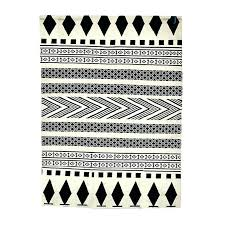 contemporary rug runners black