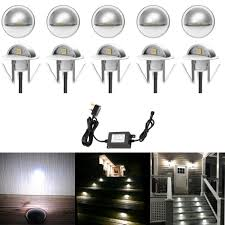 Outdoor Eyelid Lights Pack Of 10 X Led Deck Lights Eyelid Step Lights Recessed Outdoor Waterproof Ip65 Low Voltage 12v 35mm Cool White Kit Energy Class A