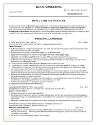 Hotel General Manager Resume Gorgeous Hotel General Manager Resume Best Of Restaurant Manager Resume