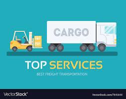 Cargo Web Design Cargo Freight In Flat Design Background Concept