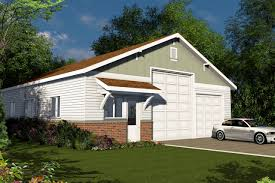 image of white rv garage with living quarters floor plans