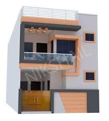15 X 40 House Design 15x40 House Ground Floor Plan With 3d Elevation By Nikshail