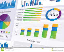 Modern Charts And Graphs Graphs And Charts Stock Illustration Illustration Of