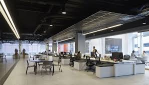 futuristic office design. Futuristic Office Design With Unique Exposed Ceiling Ideas