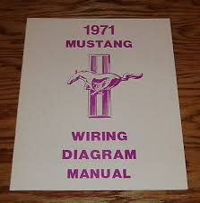 1968 ford mustang wiring diagram manual brochure 68 9 00 picclick 1971 ford mustang wiring diagram manual brochure 71
