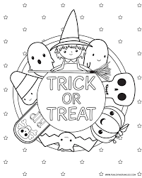 Cute Halloween Coloring Pages For Kids Halloween Coloring Pages Free Printables Free Halloween
