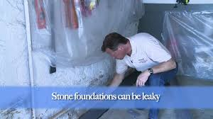 How To Waterproof Leaky Stone Foundations YouTube - Exterior waterproof sealant