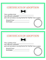 dog birth certificates printable dog birth certificate fresh child adoption certificate