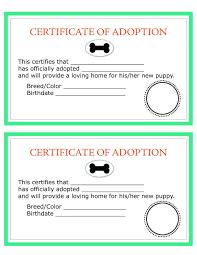 dog birth certificates printable dog birth certificate fresh child adoption certificate