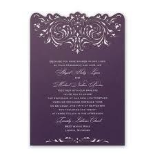 Purple Wedding Invitations Invitations By Dawn