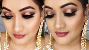 indian party makeup glitter eye makeup for wedding प र ट म कअप श द फ क शन स क ल ए क स कर