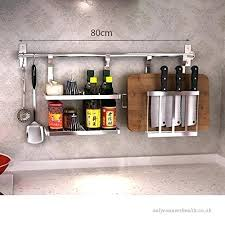 kitchen wall rack stainless steel kitchen wall hanging racks es pot cover bowl storage rack kitchen wall rack