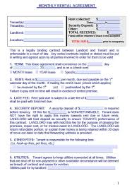 Free Maine Monthly Rental Agreement Form – Pdf Template